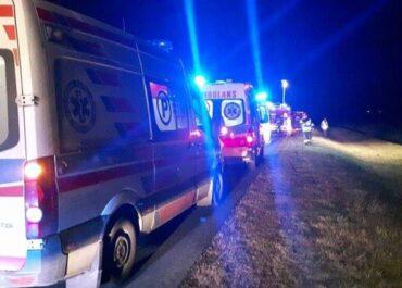 Czwórka dzieci ranna w nocnym wypadku koło Swarzędza
