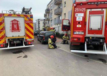 Pożar mieszkania w Luboniu