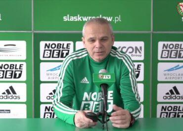 Trener Śląska Wrocław przed meczem z Lechem Poznań