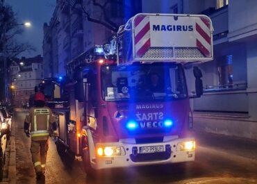 Akcja straży pożarnej na ul. Roboczej i Przemysłowej, droga zamknięta dla ruchu