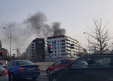 Pożar w rejonie ul. Katowickiej