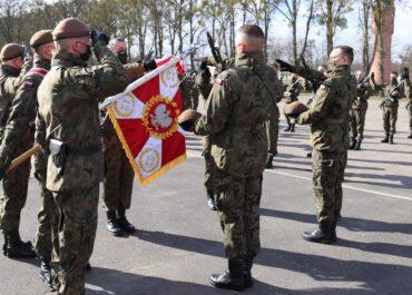Ślubowanie żołnierzy w Biedusku