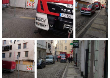 Pojazdy straży pożarnej przez kilka dni blokowały część ul. Za Bramką. Dlaczego?