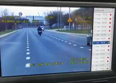 Ponad 130 km/h motocyklem przy ograniczeniu do 70 km/h