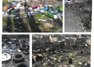 """""""Wylęgarnia szczurów"""", palone śmieci, rozrzucone odpady – mieszkańcy mają dość koczowiska Romów przy ul. Lechickiej"""