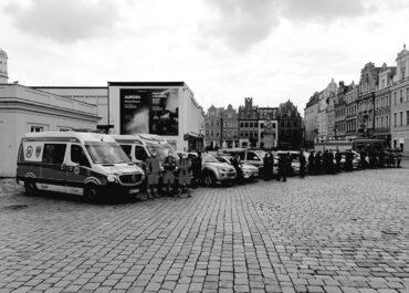 Poznańskie służby oddały hołd tragicznie zmarłemu policjantowi