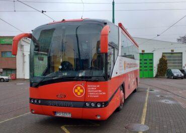 Zbiórka krwi w zajezdni tramwajowej przy ul. Głogowskiej