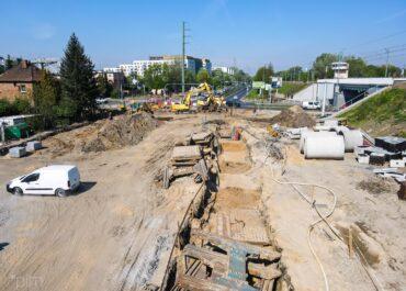Budowa nowego fragmentu ul. św. Wawrzyńca jest już na zaawansowanym etapie