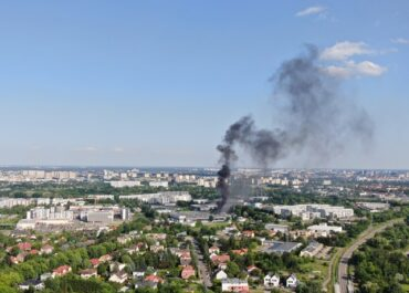 Niebezpieczny pożar chemikaliów na ul. Druskienickiej