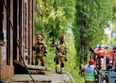 Strażak ranny podczas akcji gaśniczej na Wildzie