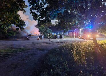 Nocna akcja straży pożarnej na Opolskiej