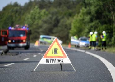 Śmiertelny wypadek na trasie do Kórnika , droga zamknięta