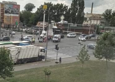 Wypadek na skrzyżowaniu ul. Hetmańskiej i Rolnej
