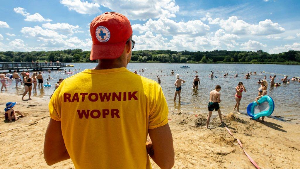 Zakaz kąpieli w jeziorze Rusałka