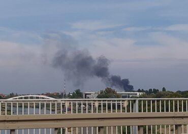 Duży dym nad osiedlem Warszawskim