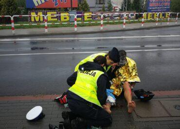 Kierowca wjechał w rowerzystę na trasie triatlonu