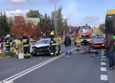 W Kozichgłowach Lamborghini zderzyło się z autobusem